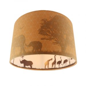 Oranje dieren kinderkamer plafondlamp Safari, Binnenzijde doorschijnend