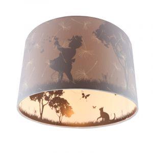 Grijze kinderkamer plafondlamp Vlinders, doorschijnend