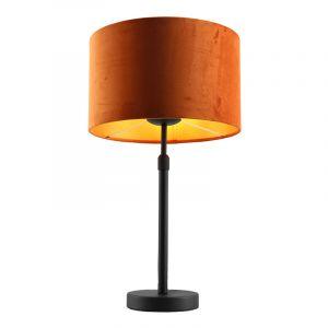 Staande tafellamp Kristien, met oranje/goud velours kap