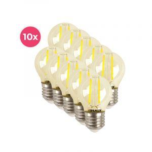 10-pack dimbare Tekalux Melchis E27 LED kogel, 4w warm wit