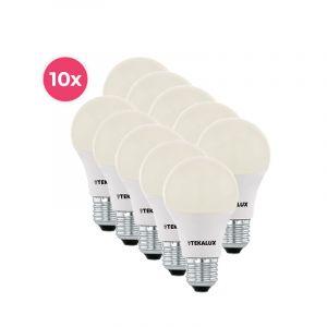 10-pack Tekalux Cenor E27 A60 LED lamp warm wit, 9w