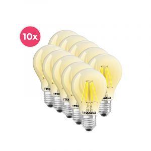 10-pack Dimbare Tekalux Yona E27 A60 LED lamp, 2700k, 5w