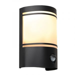 Moderne buiten wandlamp met bewegingssensor Manuel, zwart, aluminium, IP44
