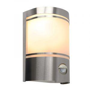 Moderne buiten wandlamp met bewegingssensor Manuel, zilver, aluminium, IP44
