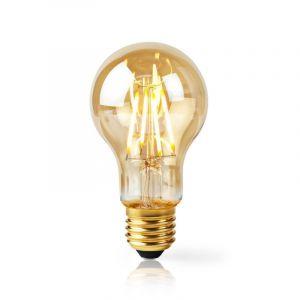 Amberkleurige E27 Slimme LED lamp, 5w, 2700K warm wit