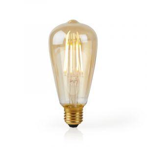 Smart Wifi E27 Edison LED lamp amberkleurig, ST64, 5W, 2700K warm wit