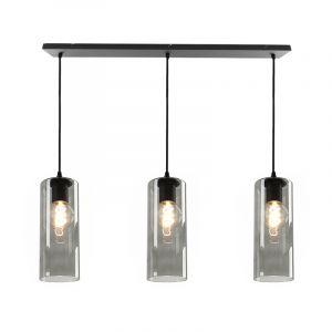 Janou hanglamp met 3 design rookglas kokers