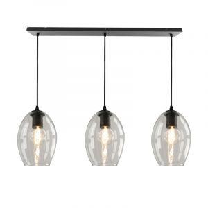 Julot hanglamp 130 cm met 3 design transparante ovale kappen