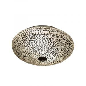 Transparante mozaiek plafondlamp Louay, mozaiek,metaal