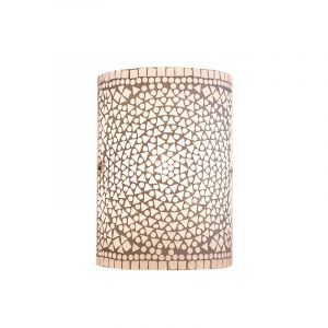 Transparante oosterse wandlamp Mahdia, mozaiek