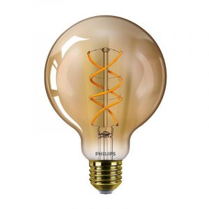 Philips LED filament Globe 5-25W E27 G93 Gold Vintage