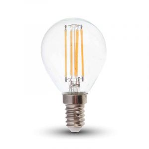 Dimbare E14 LED filament kogel, Warm wit - 4 Watt