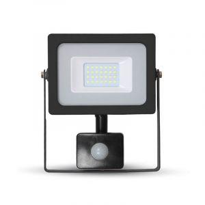 LED schijnwerper LENDO, zwart, Met bewegingsmelder - 6000K 20w