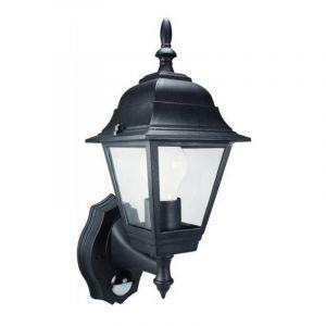 Zwarte, klassieke buitenlamp Uvox, Met bewegingsmelder