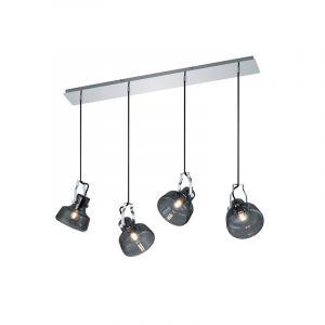 Chroom hanglamp Emmerald, Modern
