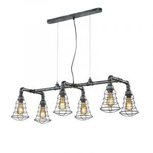 Zilveren hanglamp Atif, metaal