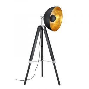 Industriele, Moderne Vloerlamp Tzippora - Mat Zwart