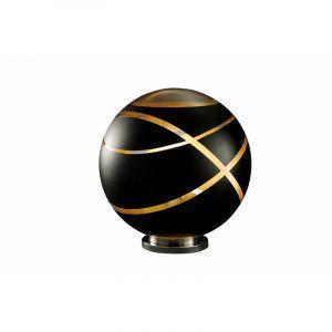 Chroom tafellamp Armin, Metaal,Glas