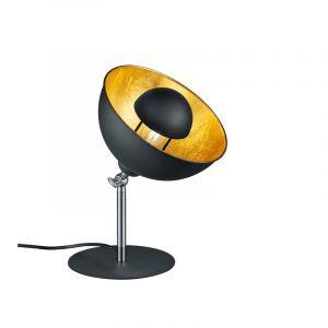 Industriele, Moderne Tafellamp TImea - Mat Zwart, Wit Mat