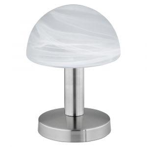 Soraya tafellamp, nikkel en wit