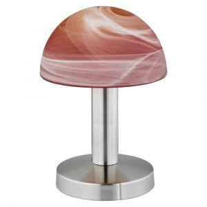 Soraya tafellamp, met sfeervolle kap, oranje