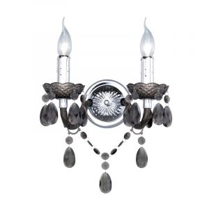 Klassieke, zwarte wandlamp Feebe