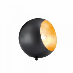 Zwarte tafellamp Berdan, metaal