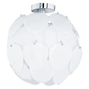 Woolwich plafondlamp, origineel, chroom en wit