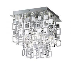 Worcester plafondlamp, origineel, metaal en acryl