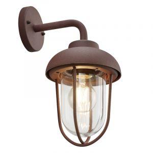 Industriële buitenlamp Trevor, Roestkleurig
