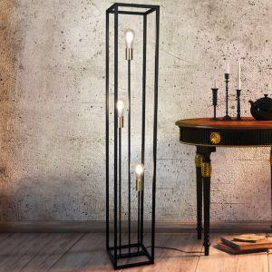 Moderne vloerlamp Fabrice, zwart, 3 lichts