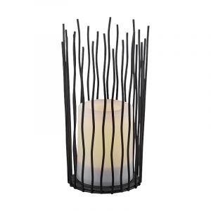Moderne buitenlamp Suzanne, zwart, op zonne-energie