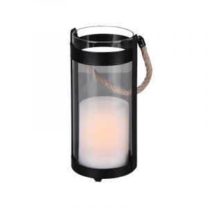 Moderne buitenlamp Suzanna, zwart, op zonne-energie