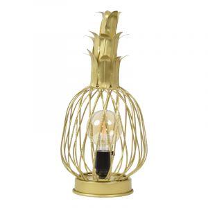 Industriële tafellamp Keri, goud, rechthoekig