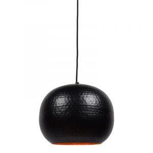 Zwarte, industriële hanglamp Fatim