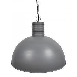 Grijze, industriële hanglamp Felan