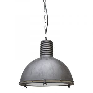 Vintage black hanglamp Descon, Industrieel