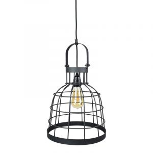 Industriële hanglamp Kay / Kaj, Zwart