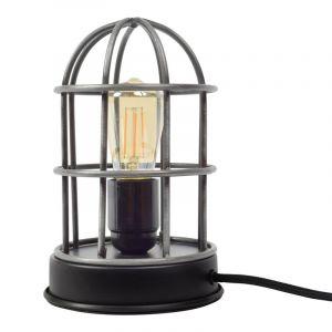 Industriële tafellamp Jaz, Zwart