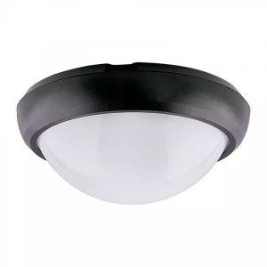 Zwarte portiekverlichting Xenia, 12w, 3000K, Rond.