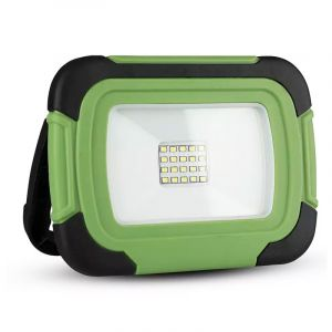 Groene accu bouwlamp Mechelina, kunststof, 10w 4000K (wit) LED.