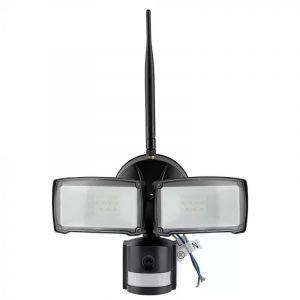 Zwarte schijnwerper Leone, kunststof, 18w 6000K (koud wit) LED.