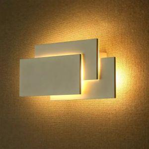 Witte moderne up down wandlamp, Keo, aluminium, 12w 3000K (warm wit) LED.