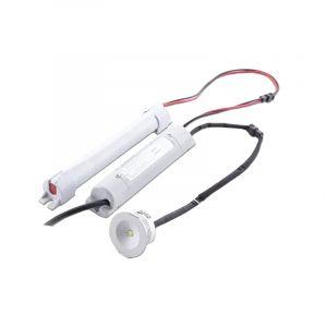 Witte inbouw noodverlichting, kunststof, 3w 6000K (koud wit) LED.
