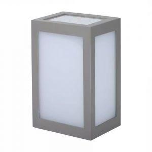 Grijze moderne buitenlamp, Kicky, kunststof, 12w 6400K (koud wit) LED.