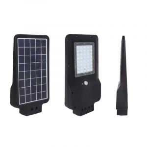 Solar straatverlichting Lindsay, zwart, kunststof, 15w 6000K (koud wit) LED.