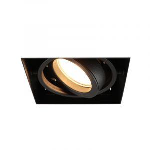 Zwarte trimless inbouwspot Joost, metaal, GU10 MR16