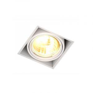 Witte trimless inbouwspot Wilhelm, metaal