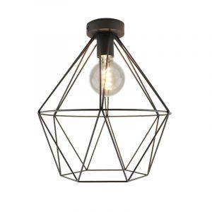 Stoere, industrie plafondlamp Jochem, Gaaslook, extra breed