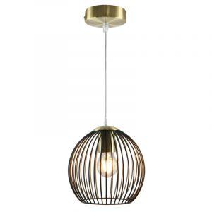 Industriële hanglamp Wiro Bolvormig klein, zwart/goud